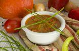 Тыквенный суп с перцем и картофелем
