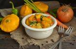 Овощное рагу с курицей и патиссонами