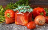 Фаршированный перец в томатном соусе на зиму