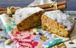 Фруктовый пирог с яблоками, грушами и орехами