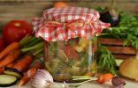 Салат из баклажанов на зиму без стерилизации