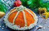 Салат оливье «Шапка Деда Мороза»