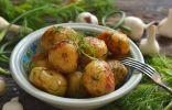 Молодой картофель, поджаренный на сковороде