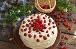 Бисквитный торт «Земляника со сливками»