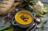 Крем-суп из цветной капусты с беконом