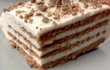 Нежнейший торт без выпечки из печенья и творога