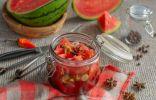Острый маринованный арбуз — пикантная закуска к мясу