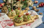 Праздничная закуска «Ёлочные шары» с сыром и курицей