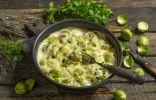 Брюссельская капуста в сливочном соусе под сырной корочкой