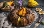 Влажный пирог из тыквы с апельсином
