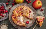 Простой яблочный кекс с клюквой — мини-кекс на двоих