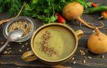Кремовый суп-пюре из репы с кабачком