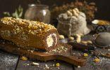 Торт-полено из бисквитного теста — простая идея для праздника