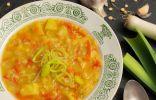 Согревающий гороховый суп на мясном бульоне