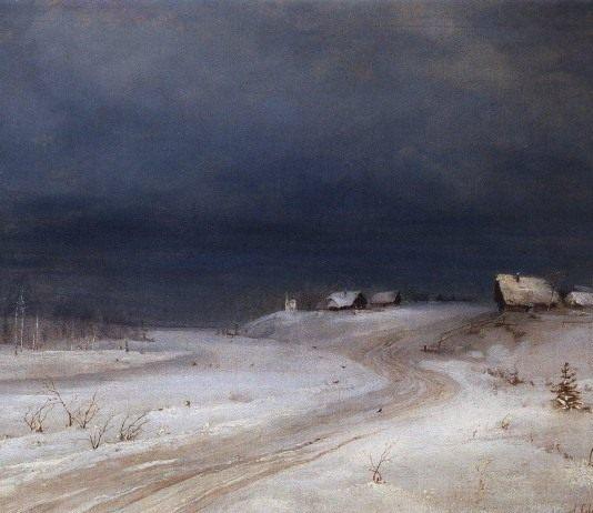 А.К. Саврасов, Зимний пейзаж (1880 г.)