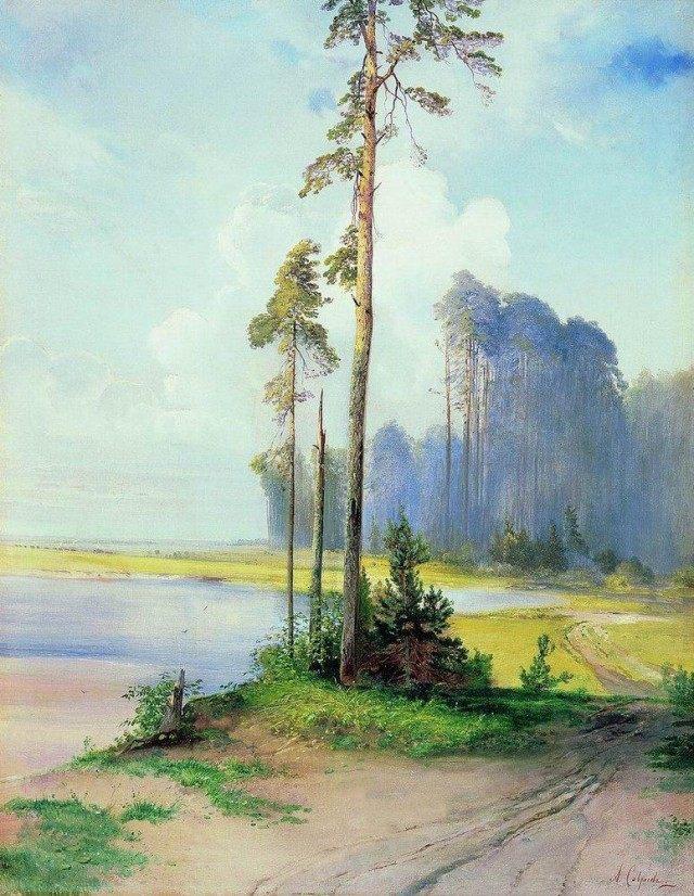 Саврасов А.К. Летний пейзаж. Сосны. 1880 г.