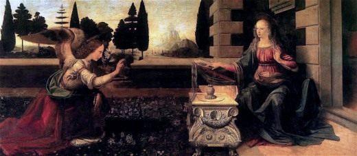 Леонардо да Винчи «Благовещение» 1473-1475гг
