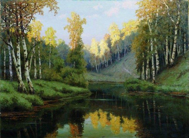 Волков Ефим. Лесное озеро. (1910)