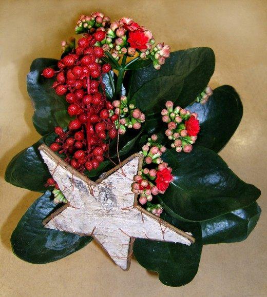 Рождественская композиция из каланхоэ