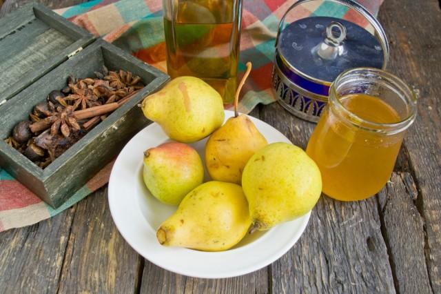 Ингредиенты для медовых груш