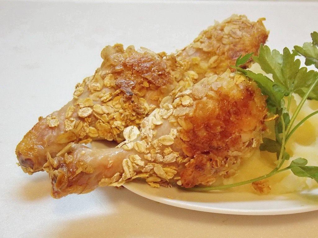 курица в панировке из овсяных хлопьев