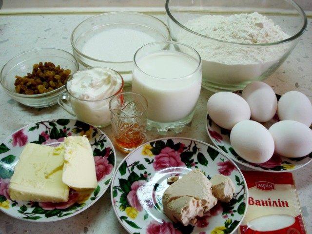 Ингредиенты для Кулича пасхального, или Паски
