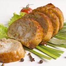 Домашняя колбаса из цыплёнка с перловой крупой