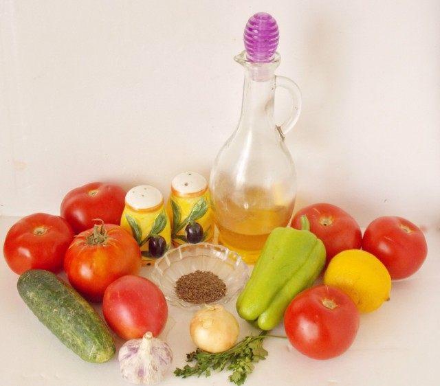 Ингредиенты для приготовления гаспачо