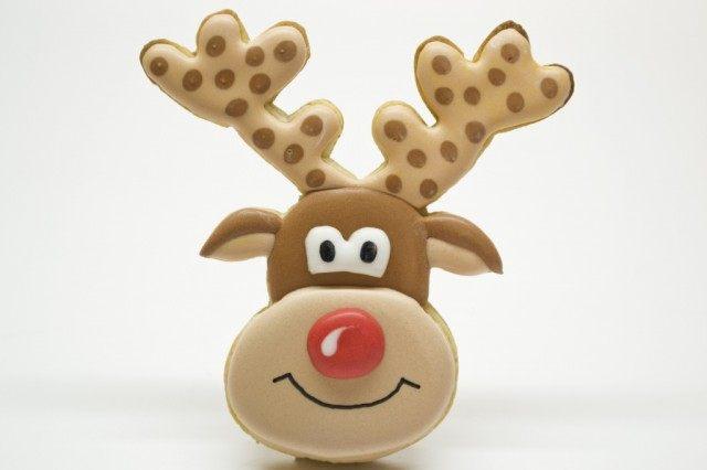 Новогоднее печенье «Олень Рудольф» готово!