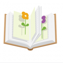 Поместите растение между двумя листами бумаги и уложите в книгу