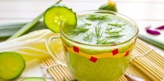 Смузи с огурцом и шпинатом