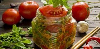 Быстрые маринованные помидоры по-корейски