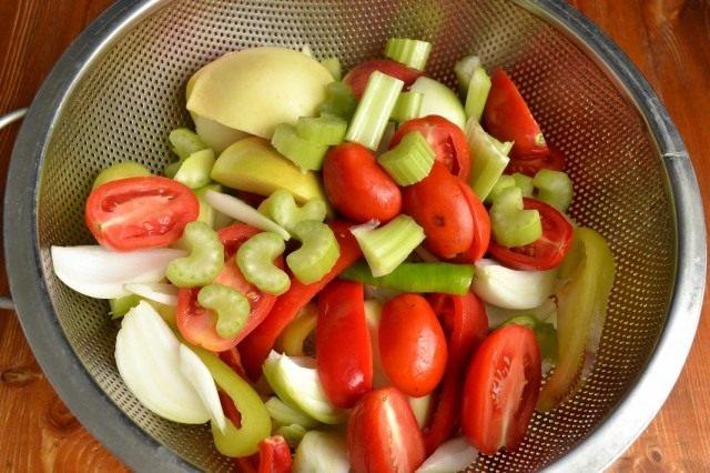 Готовим овощи на пару