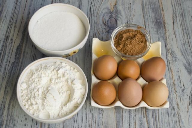 Ингредиенты для приготовления бисквитов