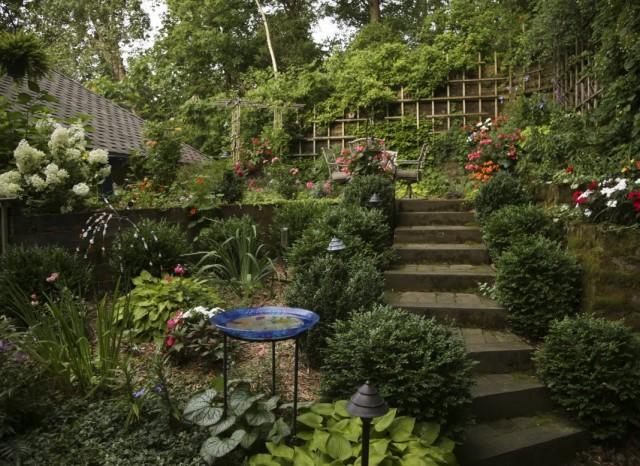 Панорамный сад с разделёнными зонами