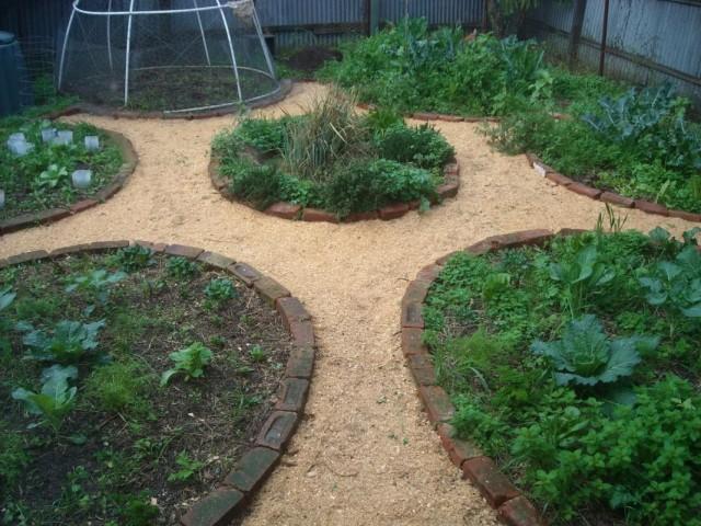 Мульчирование садовых дорожек опилками