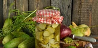 Маринованные огурцы кружочками с лимонной кислотой