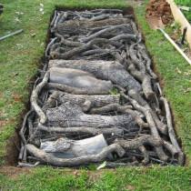 Закладка слоя крупной древесины