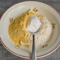 Добавляем апельсиновый порошок и сахарную пудру