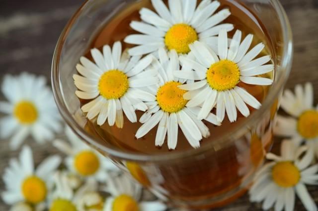 В ромашковый чай желательно добавлять мед