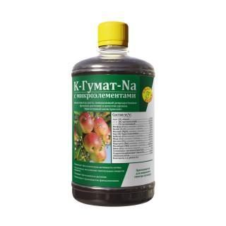 Гумат калия/натрия (K/Na) с микроэлементами - биоактиватор роста, повышающий репродуктивные функции растений и качество урожая. Эффективный антистрессант.