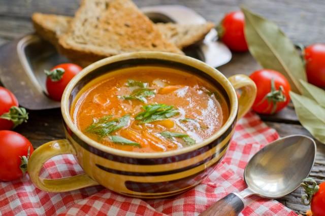 Томатный суп с картофелем