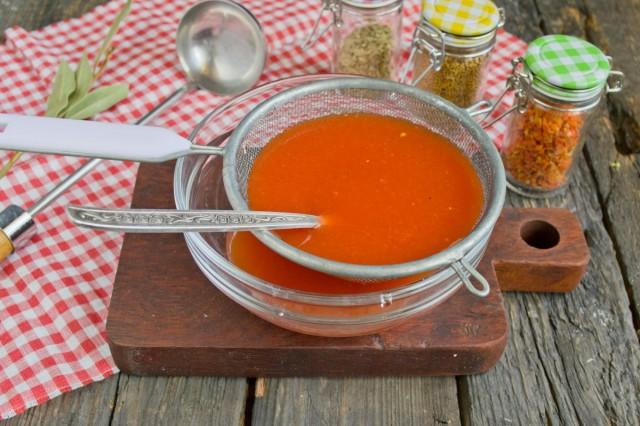 Готовим пюре с помидоров