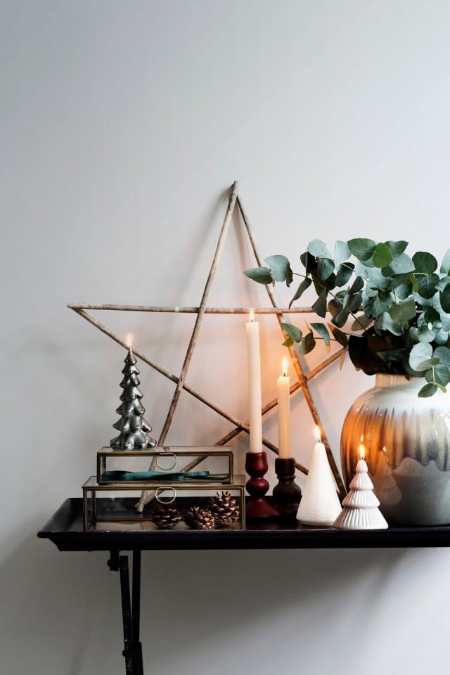 Новогодний декор — звезда из веток
