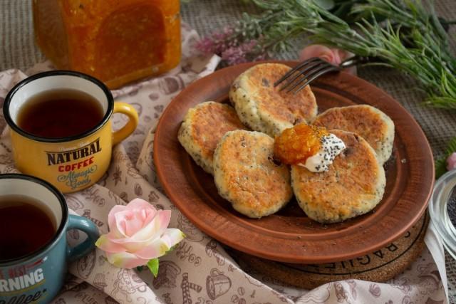 Сырники с маком и изюмом — вкус детства