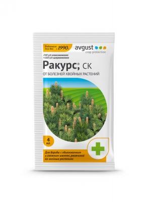 Эффективное лекарство для борьбы с обыкновенным и снежным шютте, ржавчиной на хвойных растениях «Ракурс»