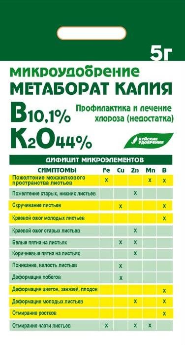 Метаборат калия