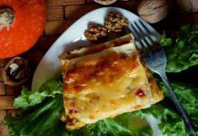 Вегетарианская лазанья с тыквой и грецкими орехами