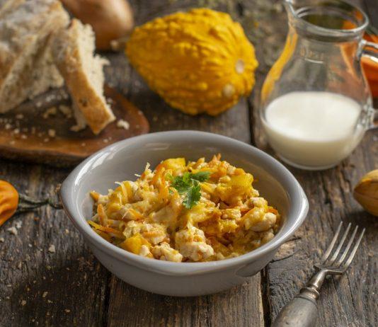 Курица с тыквой в молочном соусе — быстро и вкусно