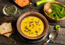 Постный рыбный суп с чечевицей